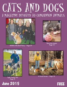 Thank you, Janet, for writing about our organization in the June issue of Cats and Dogs Magazine.